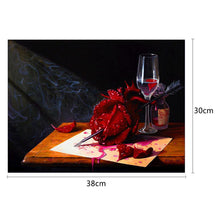 Load image into Gallery viewer, Rose in Arrow Round Part Drill Diamond Painting 38X30CM(Canvas)