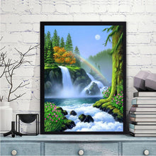 Load image into Gallery viewer, Rainbow Waterfall Round Full Drill Diamond Painting 30X40CM(Canvas)