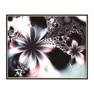 Novel Flower Round Full Drill Diamond Painting 30X25CM(Canvas)