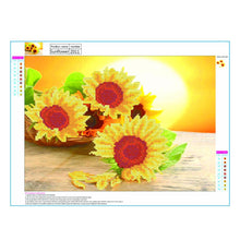 Load image into Gallery viewer, Sunflowers Round Part Drill Diamond Painting 40X30CM(Canvas)