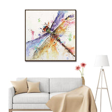 Load image into Gallery viewer, Dragonfly Round Full Drill Diamond Painting 30X30CM(Canvas)
