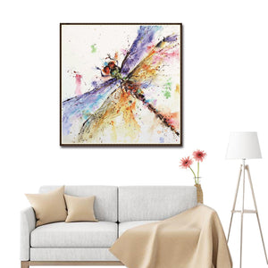 Dragonfly Round Full Drill Diamond Painting 30X30CM(Canvas)