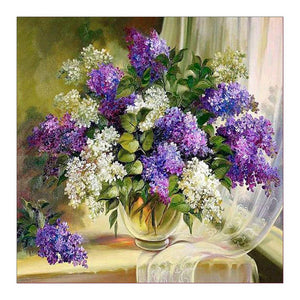 Flower Square Drill Diamond Painting 30X30CM(Canvas)