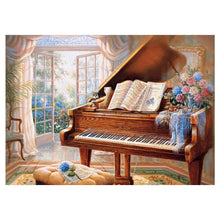 Load image into Gallery viewer, Piano Round Full Drill Diamond Painting 40X30CM(Canvas)