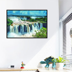 Grand Waterfall Round Part Drill Diamond Painting 25X30CM(Canvas)