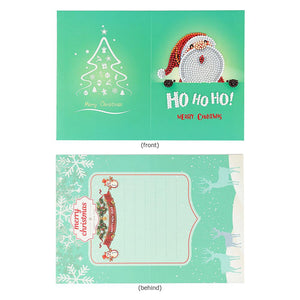 Christmas Greeting Cards DIY 5D Diamond Painting Set New Year Xmas Gift