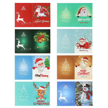 Load image into Gallery viewer, Christmas Greeting Cards DIY 5D Diamond Painting Set New Year Xmas Gift