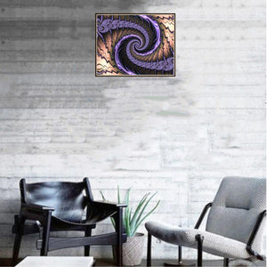 Whirlwind Round Full Drill Diamond Painting 30X25CM(Canvas)