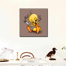 Load image into Gallery viewer, Cartoon Duck Round Full Drill Diamond Painting 30X30CM(Canvas)