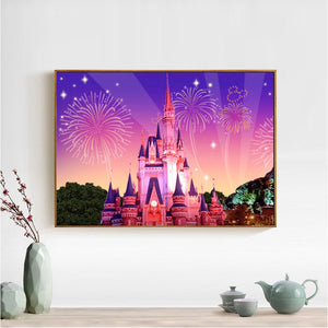 Gorgeous Castle Round Full Drill Diamond Painting 40X30CM(Canvas)