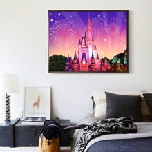 Load image into Gallery viewer, Gorgeous Castle Round Full Drill Diamond Painting 40X30CM(Canvas)