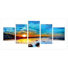 Load image into Gallery viewer, 5pcs 5D DIY Full Drill Diamond Painting Sunset Cross Stitch Embroidery Kit