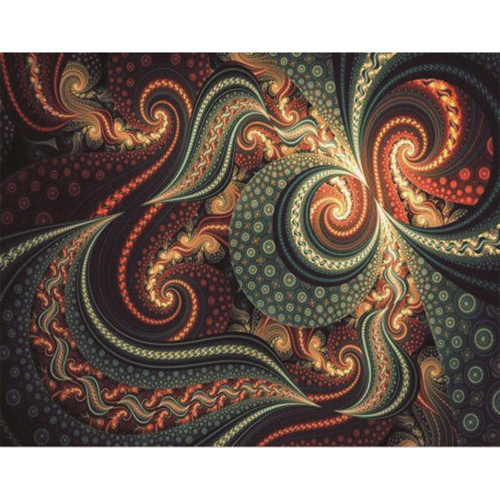 Novelty Fantasy Round Full Drill Diamond Painting 30X25CM(Canvas)