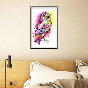 Bird Round Full Drill Diamond Painting 30X20CM(Canvas)