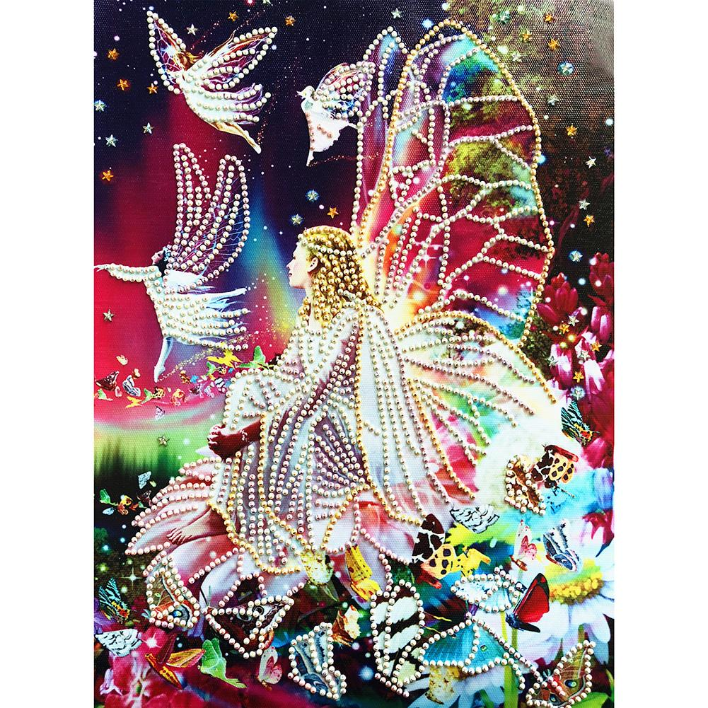 Fairy Special Part Drill Diamond Painting 40X30CM(Canvas)