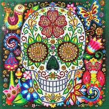 Load image into Gallery viewer, Novelty Skull Special Part Drill Diamond Painting 25X25CM(Canvas)