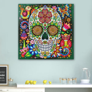 Novelty Skull Special Part Drill Diamond Painting 25X25CM(Canvas)