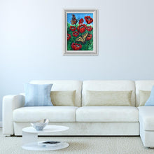 Load image into Gallery viewer, Butterfly Flower Special Drill Diamond Painting 40X30CM(Canvas)