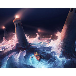 Cartoon Sea Round Full Drill Diamond Painting 30X25CM(Canvas)