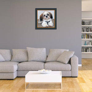 Dog Part Drill Diamond Painting 25X25CM(Canvas)