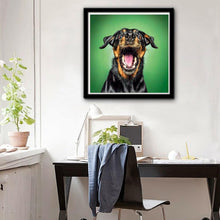 Load image into Gallery viewer, Black Yellow Dog Full Drill Diamond Painting 25X25CM(Canvas)