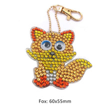 Load image into Gallery viewer, 1pcs DIY Keychain Hand Made Diamond Painting Full Drill Pendants (Fox)