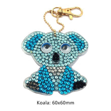 Load image into Gallery viewer, 1pcs DIY Keychain Hand Made Diamond Painting Full Drill Pendant (Koala)
