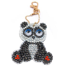 Load image into Gallery viewer, 1pcs DIY Keychain Hand Made Diamond Painting Full Drill Pendant (Panda)