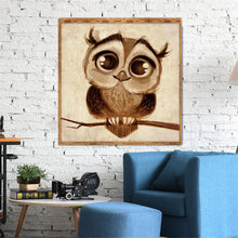 Load image into Gallery viewer, Cute Bird Round Part Drill Diamond Painting 30X30CM(Canvas)