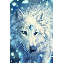 Load image into Gallery viewer, Wolf Round Part Drill Diamond Painting 30X20CM(Canvas)