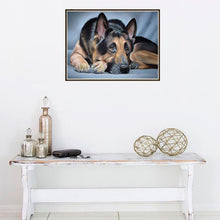 Load image into Gallery viewer, Dog Round Part Drill Diamond Painting 20X25CM(Canvas)