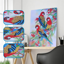 Load image into Gallery viewer, Parrot Special Part Drill Diamond Painting 30X25CM(Canvas)