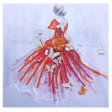 Load image into Gallery viewer, Dress Girl Special Part Drill Diamond Painting 25X25CM(Canvas)