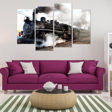 Load image into Gallery viewer, 4pcs Train Square Full Drill Diamond Painting 80X40CM(Canvas)