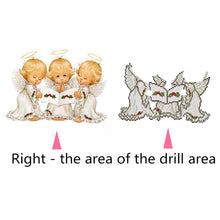 Load image into Gallery viewer, Three Little Angels Round Part Drill Diamond Painting 30X40CM(Canvas)