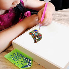 Load image into Gallery viewer, DIY Key Chain Diamond Painting Letters Bag Keyring Pendant Gift (B)