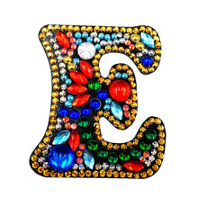 Load image into Gallery viewer, DIY Key Chain Diamond Painting Letters Bag Keyring Pendant Gift (E)