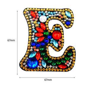 DIY Key Chain Diamond Painting Letters Bag Keyring Pendant Gift (E)