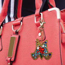 Load image into Gallery viewer, DIY Key Chain Diamond Painting Letters Bag Keyring Pendant Gift (M)