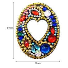 Load image into Gallery viewer, DIY Key Chain Diamond Painting Letters Bag Keyring Pendant Gift (O)