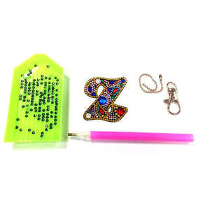 DIY Key Chain Diamond Painting Letters Bag Keyring Pendant Gift (Z)