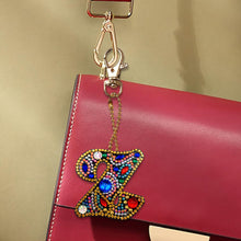 Load image into Gallery viewer, DIY Key Chain Diamond Painting Letters Bag Keyring Pendant Gift (Z)