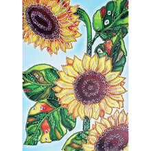 Load image into Gallery viewer, Sunflower Special Part Drill Diamond Painting 30X40CM(Canvas)