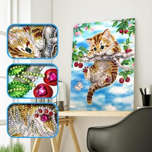 Animals Special Part Drill Diamond Painting 25X35CM(Canvas)