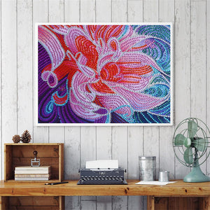 Flowers Special Part Drill Diamond Painting 30X25CM(Canvas)