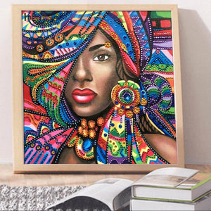Beauty Special Drill Diamond Painting 30X30CM(Canvas)