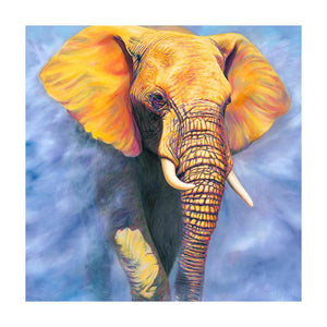 Elephant Round Full Drill Diamond Painting 30X30CM(Canvas)