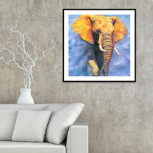 Load image into Gallery viewer, Elephant Round Full Drill Diamond Painting 30X30CM(Canvas)