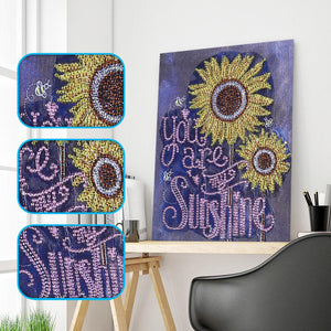 sunflower Special Part Drill Diamond Painting 34X40CM(Canvas)