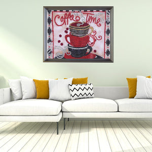 Cup Special Part Drill Diamond Painting 25X25CM(Canvas)